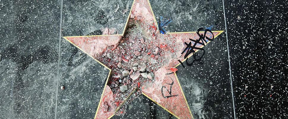 """""""Las estrellas"""" vandalizadas: Trump no es el primero, ni será el último"""
