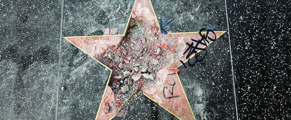 "The vandalized ""stars"": Trump is not the first, nor will he be the last"