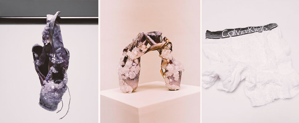 Would you wear accessories made with crystals of sweat, blood, and urine?