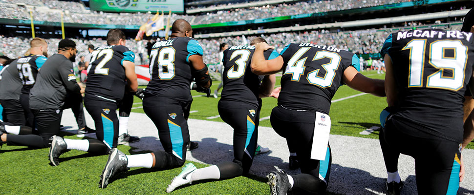 These are the NFL football players who have raised their fists against racial injustice