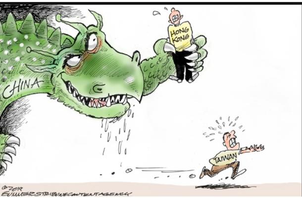 Caricatura Donald Trump