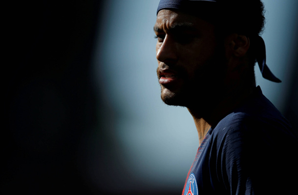 Neymar during PSG