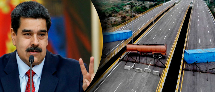 Venezuela: Maduro ordenó reabrir la frontera con Colombia