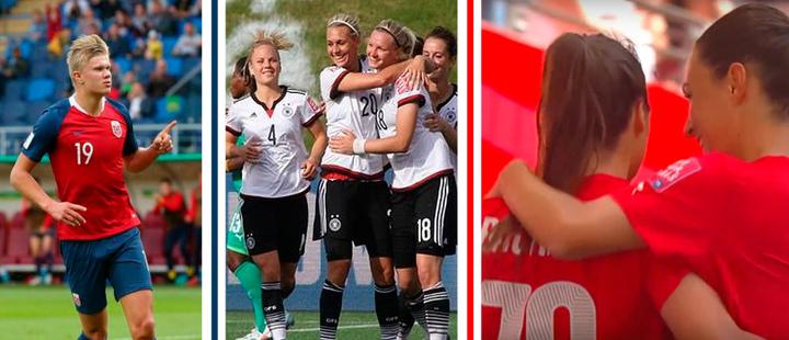 Seleccion Noruega sub 20 masculina - alemania femenina - suiza femenina