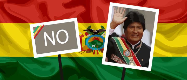 Evo Morales, bandera de Bolivia