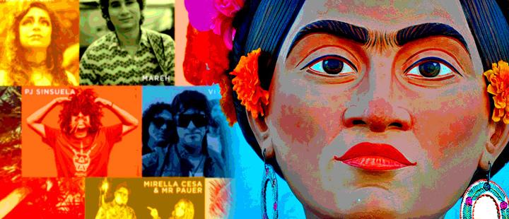 Poster de Verano Alternativo de BMI y escultura de Frida Kahlo