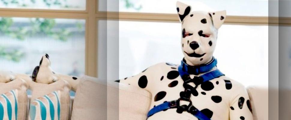 Tom Peters caracterizado como un perro dálmata