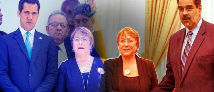 What left Michelle Bachelet's visit to Venezuela?