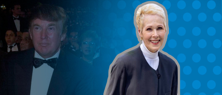 This is Jean Carroll, the woman who accused Trump of sex assault