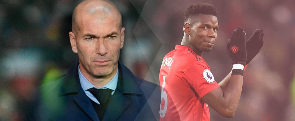 Zinedine Zidane y Paul Pogba