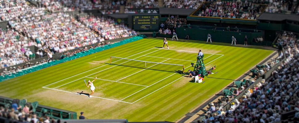 Tennis match played at Wimbledon