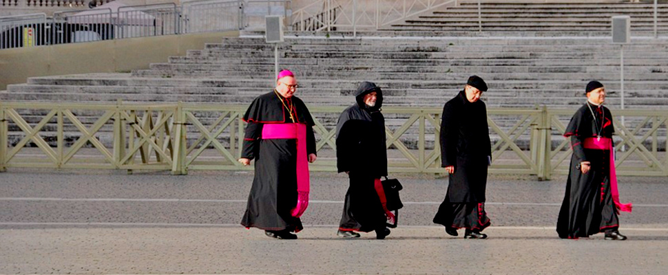 Bishops walking in St. Peter's Basilica
