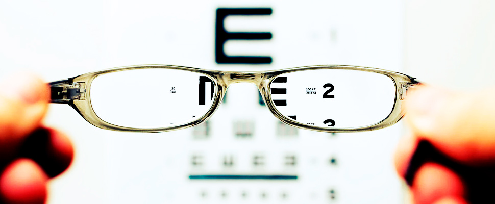 Gafas en examen visual