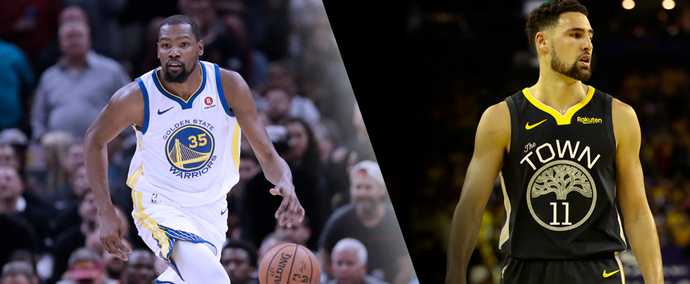 Kevin Durant and Klay Thompson