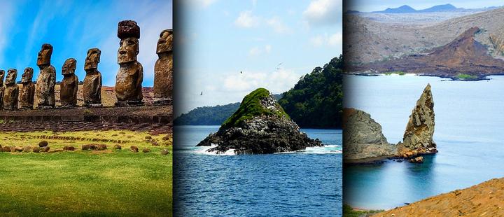Easter Island, La Gorgona Island and Galapagos Island