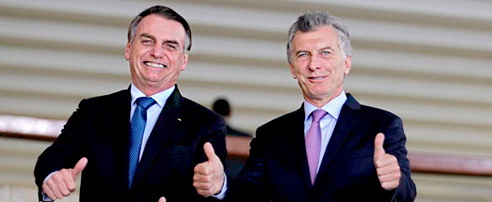 President of Brazil Jair Bolsonaro and President of Argentina Mauricio Macri