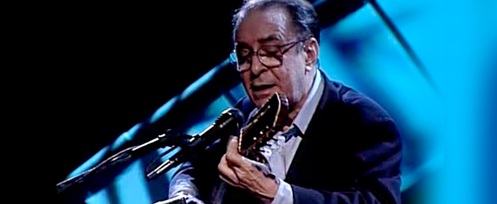João Gilberto perfoming on stage
