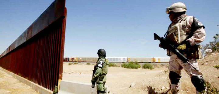 Mexico's national guard patrolling border