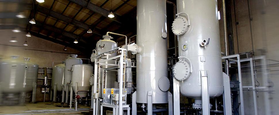 Interior of the Arak heavy water production facility in Arak