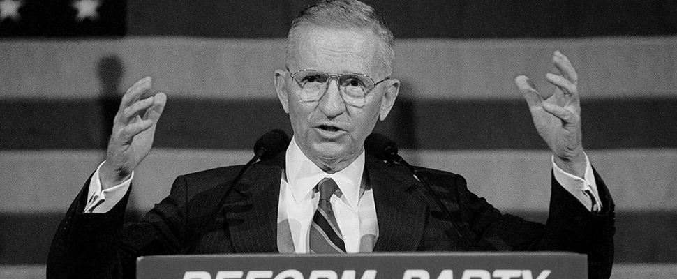 Independent Presidential candidate Ross Perot at the California Convention of the Reform Party