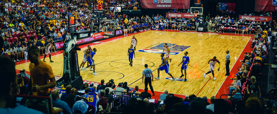 Juego de la NBA en el Thomas & Mack Center de Las Vegas