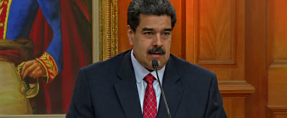 Venezuelan President Nicolás Maduro at a press conference
