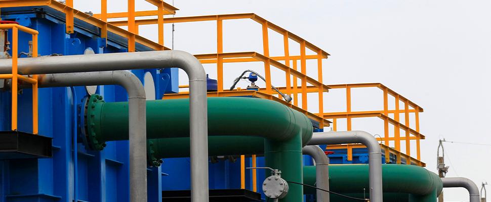 The installations of Ecopetrol's Castilla oil rig platform are seen in Castilla La Nueva, Colombi