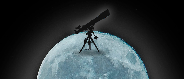 Fotografía de la luna llena