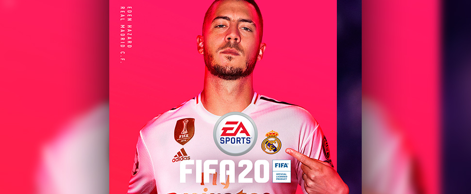 This photo provided by EA Sports shows the cover of EA Sports FIFA 20, featuring Eden Hazard.