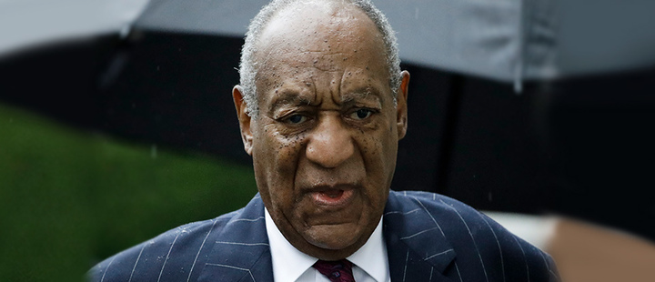 Bill Cosby arrives for his sentencing hearing at the Montgomery County Courthouse in Norristown Pa.