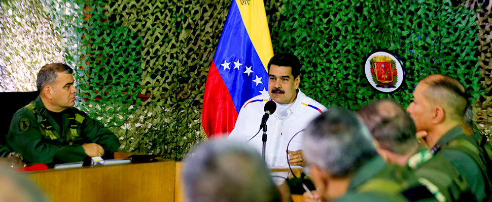 Venezuela's President Nicolas Maduro speaks during a meeting with military high command members in Caracas, Venezuela July 24, 2019.