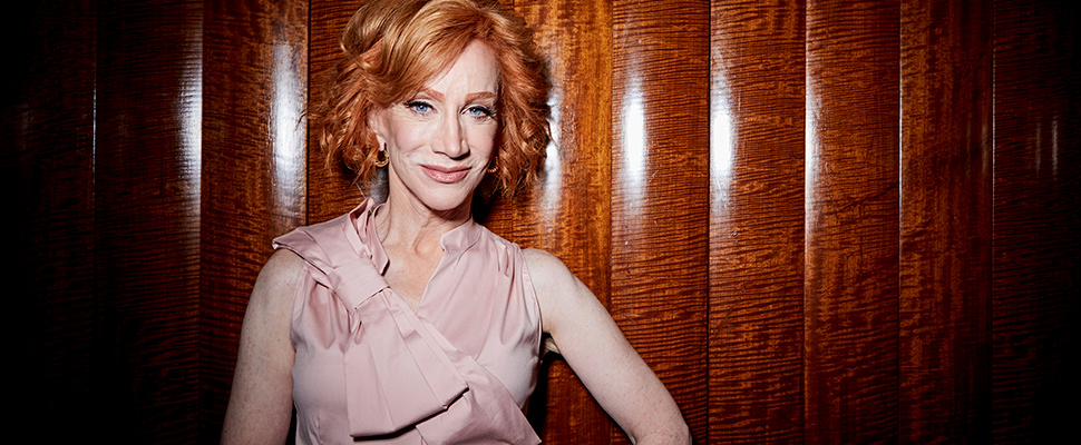 This July 16, 2019 photo shows Kathy Griffin posing for a portrait in New York