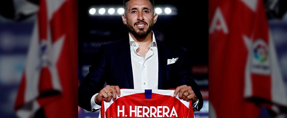 El nuevo fichaje del Atlético de Madrid, el mexicano Héctor Herrera.