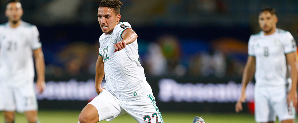 Algeria's Ismael Bennacer during the African Cup of Nations.