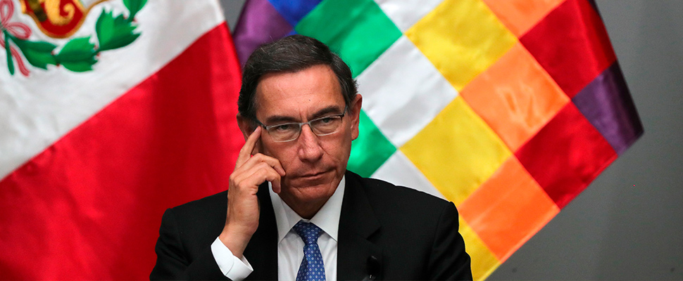 The president of Peru, Martín Vizcarra.