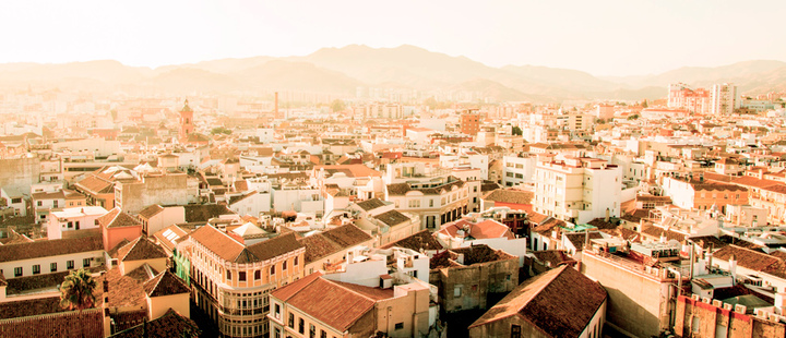 Vista de la ciudad de Barcelona, España.