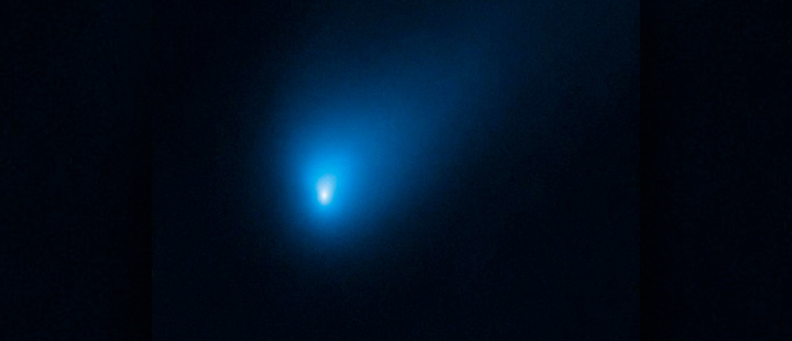 The NASA/ESA Hubble Space Telescope observed Comet 2I/Borisov at a distance of approximately 420 million kilometres from Eart