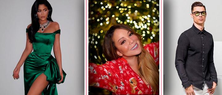 Kylie Jenner, Mariah Carey and Cristiano Ronaldo.