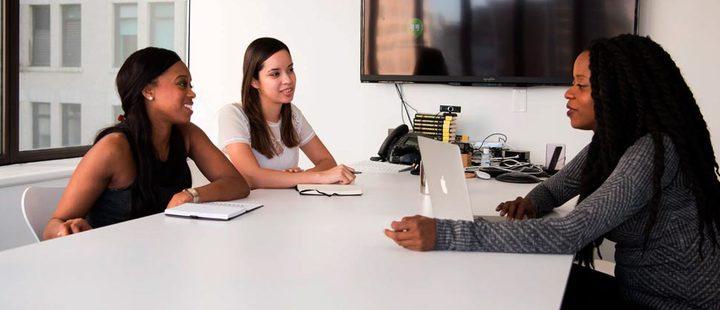 Women during a meeting