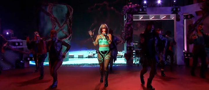 Lady Gaga at her VMAs performance