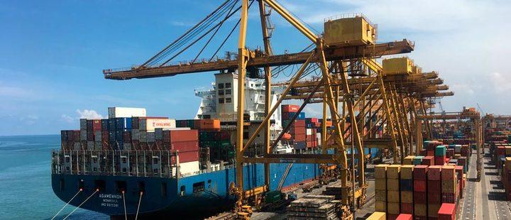 Merchandise in port
